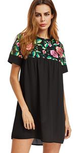 4e111f589b10 Floerns Women's Floral Print Short Sleeve Casual Top Shirt Dress · Floerns  Women's Vertical Striped Embroidered Floral Shirt Dress · Floerns Women's  Flower ...
