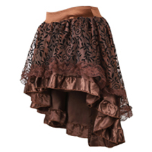 steampunk midi skirt for women tulle multi layered high low outfits party