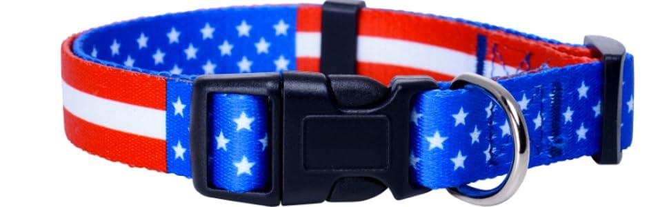 American Flag Dog Collar 1