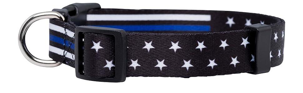 Thin Blue Line Dog Collar 2