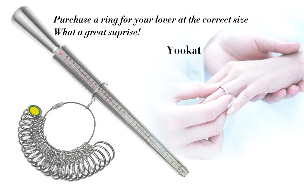 UU Mengonee EE Est/ándar de LA UE Sizer Mandrel Stick Finger Gauge Ring Medici/ón de Medidores de Herramientas de Joyer/ía Anillo Medidor