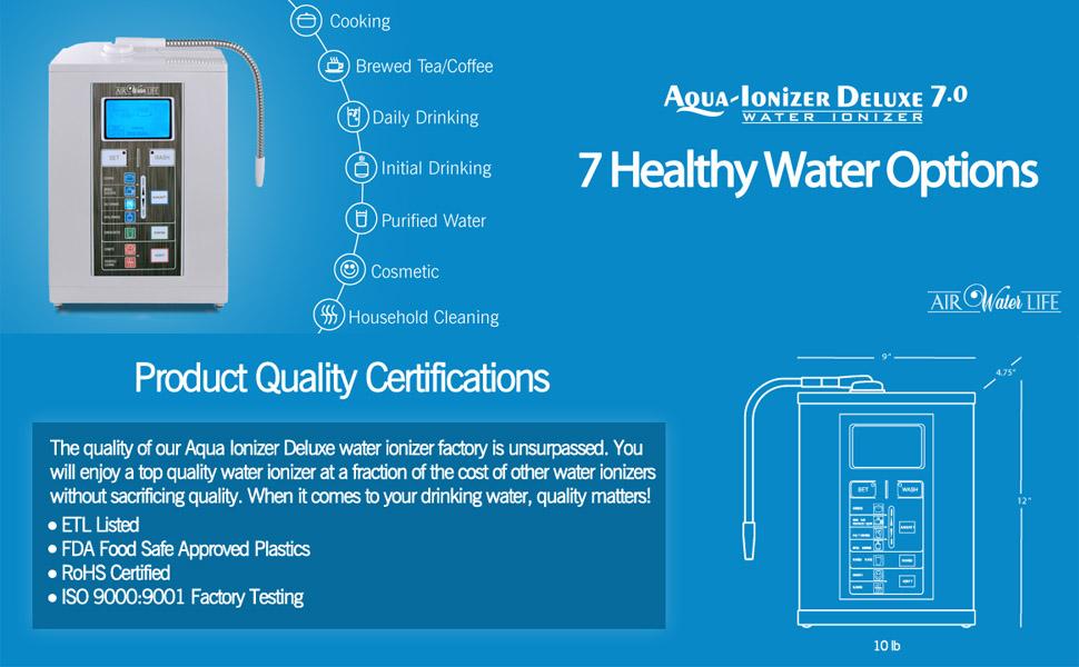 Amazon Com Air Water Life Aqua Ionizer Deluxe 7 0 Water