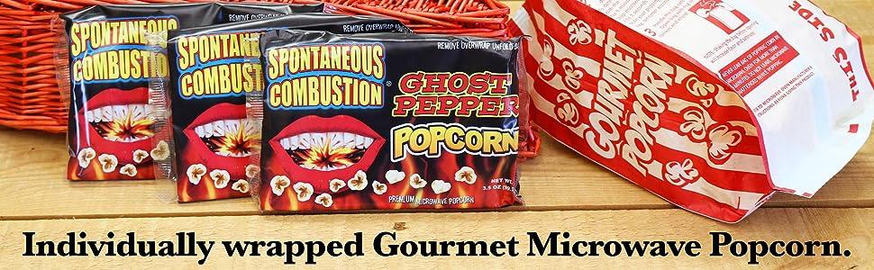 popcorn bags microwave popcorn snack bags ghost pepper gourmet popcorn pepper movie theater popcorn