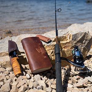 Leather fishing log