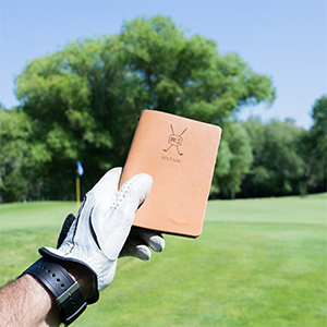 golf log leather