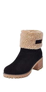 c290efb637e1 Susanny Suede Flat Sneaker Shoes Plus Velvet Winter Women s Lace Up Snow  Boots · Susanny Women s Fashion Warm Short Booties Outdoor Suede Flat Fur  Snow ...