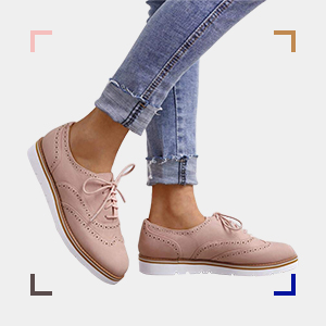 Brogues Slip on Perforated Spring Shoes
