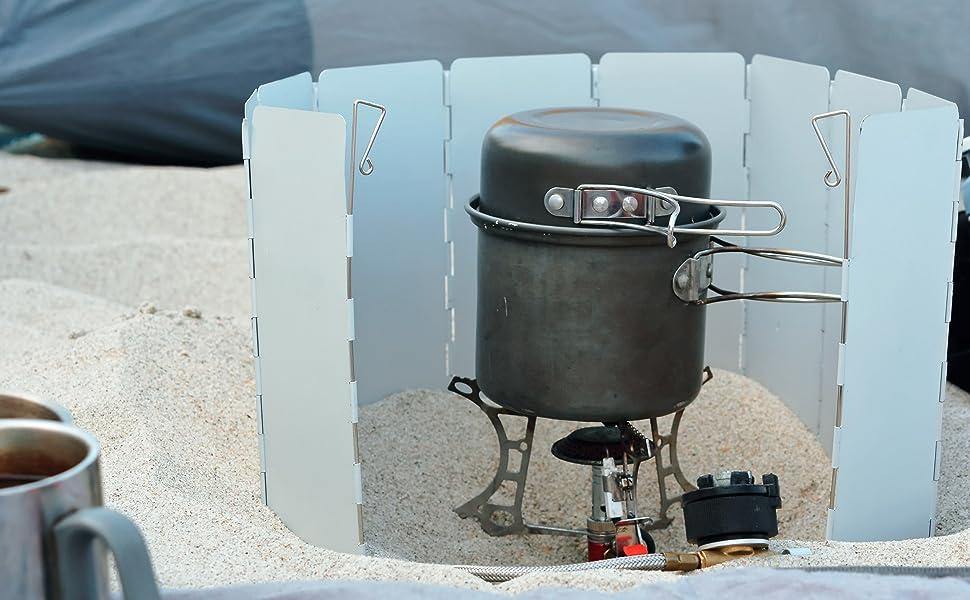 Durable Ourdoor Windscreen Camping Stove Windshield Traveling Pot Windbreak
