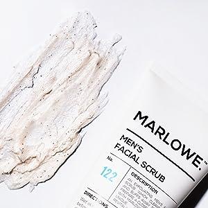 marlowe face scrub facial wash cleanser exfoliating