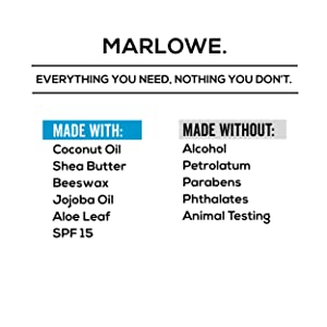 marlowe lip balm ingredients natural