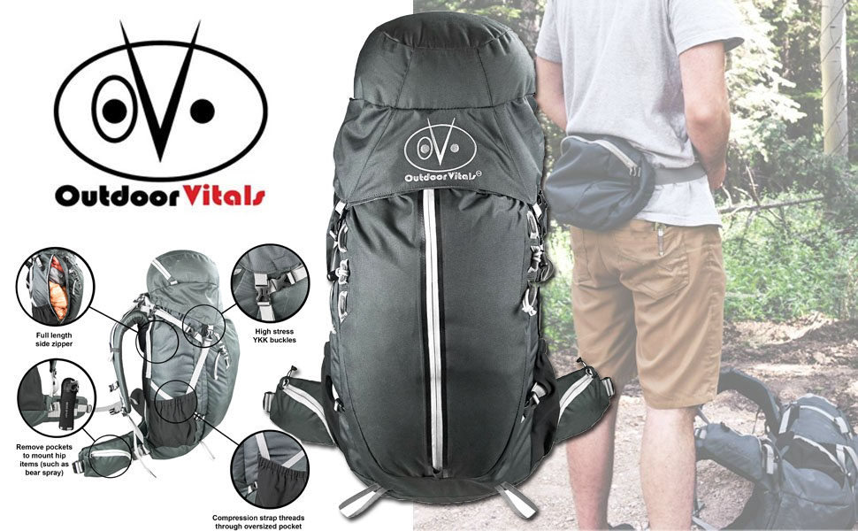 Amazon.com   Outdoor Vitals Rhyolite 45-60L Internal Frame Backpack ... f53157d3ce8f5