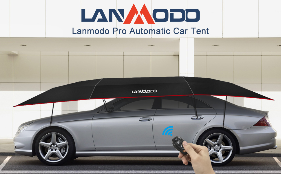 Lanmodo 4 Season Automatic Car Tent Cover Carport Folded Car