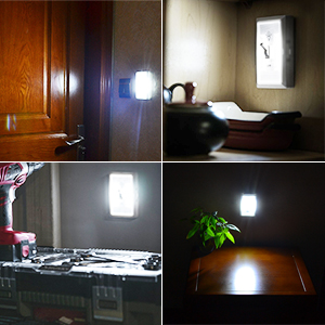 Vibelite Closet Light Battery Operated Tap Light Touch Night Utility Wall Wireless Mount