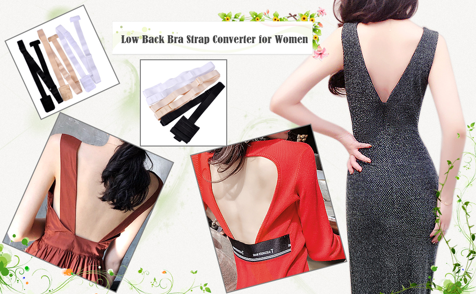 low back bra convertor for women party dress backless strapless