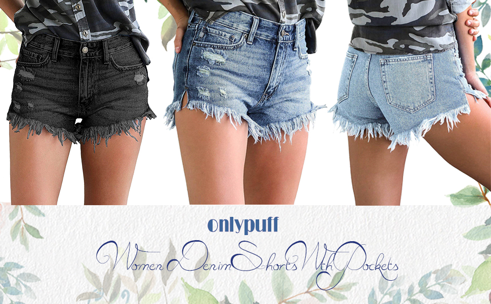 women summer hot denim shorts