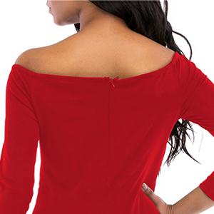 women back zipper midi dresses