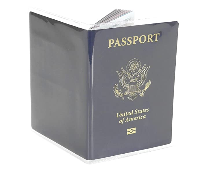 Amazon.com: Passport Cover vinilo de plástico transparente ...