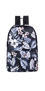 Black Floral Backpack for Girls