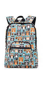 Cute Owls Backpack with Pencil Pouch