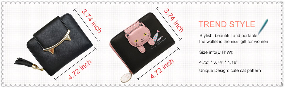 fashion cat ear wallet