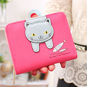 Rose mini cat wallet