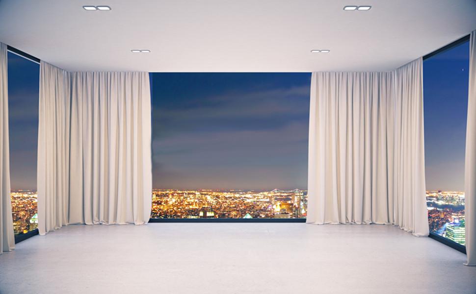 faux linen curtains