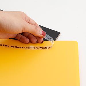 Dymo LetraTag Tape Plastic 12mm x 4m Black On Transparent