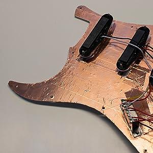 copper tape, copper, tape, emi shielding, emi, rfi shielding, rfi, emf, electric, guitar