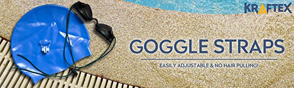 Goggle Straps Swim Bungee Cord Goggle Replacement Straps for