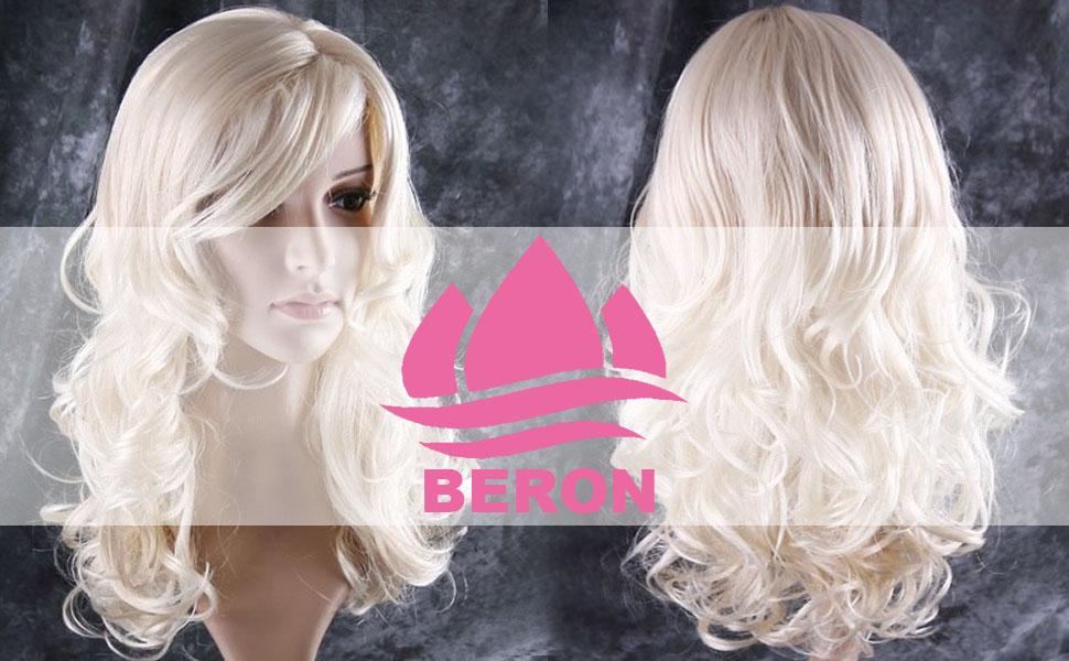 blonde wig long wavy wig blonde