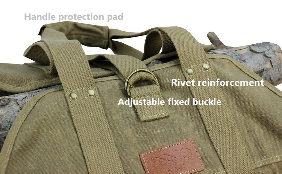 canvas fire wood tote bag holder carrier