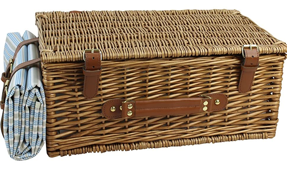 wicker basket for 4