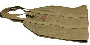 Large Log Carrier,Waxed Canvas Log Tote Bag