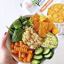 vegan cheddar root chips