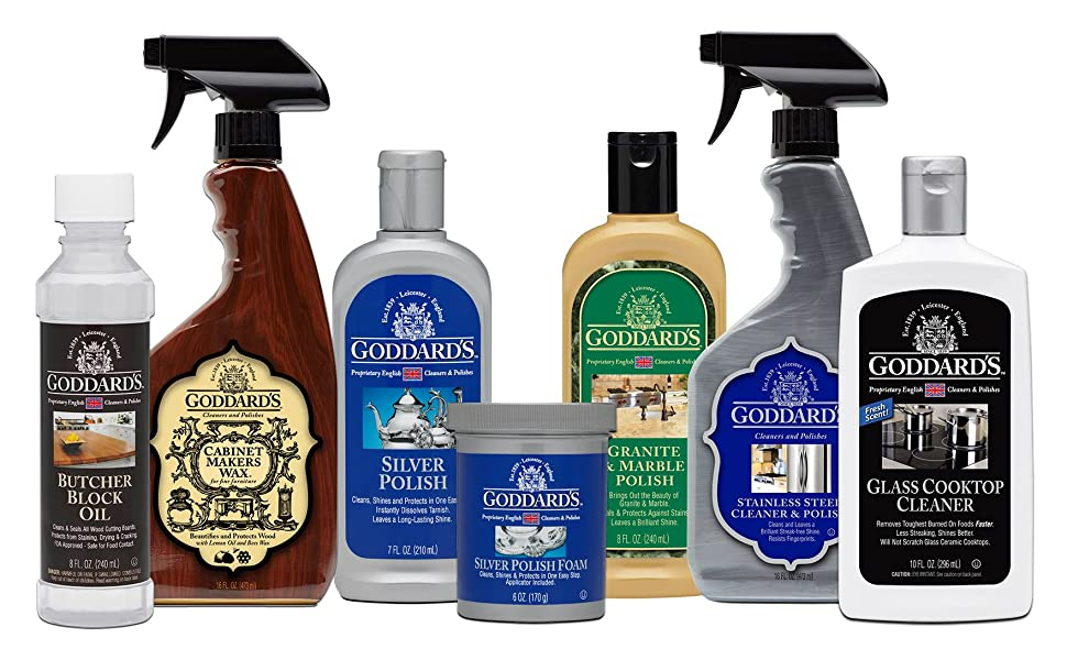oil, polish and cleaning products