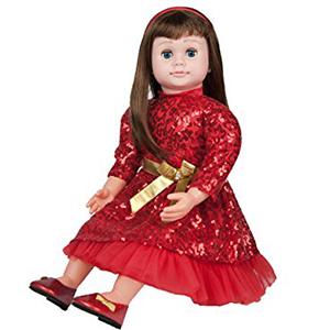 ask amy doll red sparkling dress