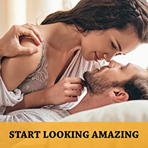 man and woman stare at each other intimately