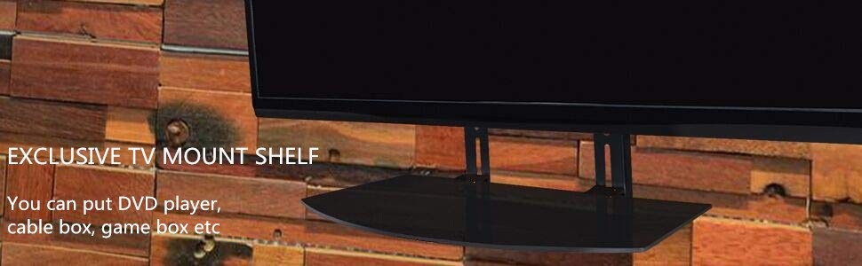 TV MOUNT SHELF