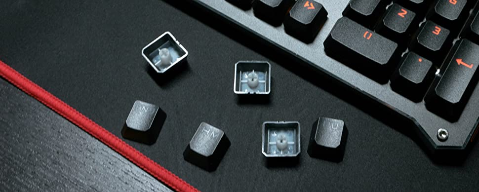B840 orange led blue switch optical keyboard speed switches light strike bloody gaming water proof