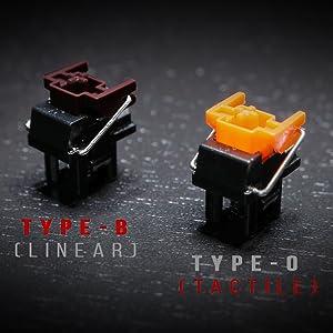 Optical switch gaming keys laser stabilizer bar flaretech mechanical switches Bloody razer green red