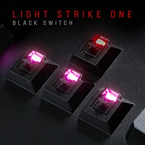 optical switch neon light black response time 0.2ms heavy force bloody gaming water resistant double