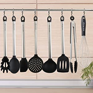 tools hanging on rack