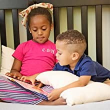 kids using pillow to read comfortable toddler pillow