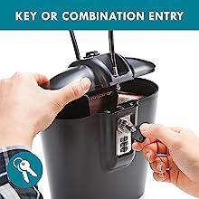 Custom 3 digit combination lock or unique key access safe