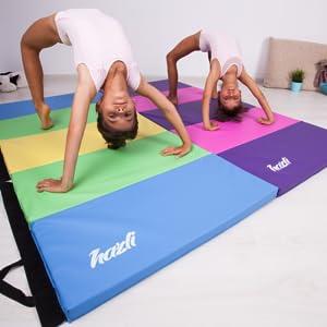 Hazli Home Gymnastics Mat for Kids – Premium Folding Tumbling Mat for Beginners – 2.5 x 6 x 1.5