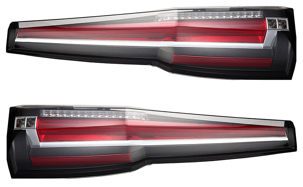 GMC Yukon 2015 2016 Tail Lights LED Rear Lamp Brake Cadillac Escalade Style