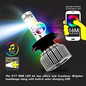 RGB LED H7 BULBS SEPCIFICATION