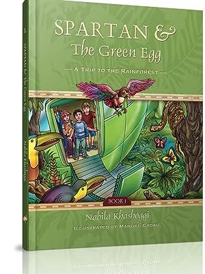 children books explore adventure learning education grade school world travel kid spartan green egg