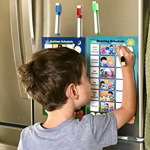Amazon.com : Magnetic Chore Chart for Kids - Dry Erase