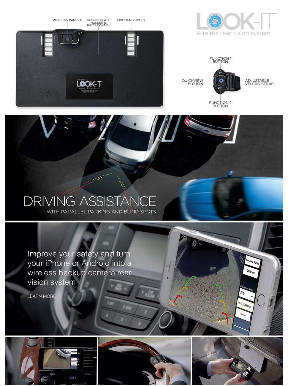 Look It Safety Backup Camera Simple Diy Installation Wiring The Is Truly Wireless And Compatible With Ios Android Devices Can Be Easily Installed By Yourself No